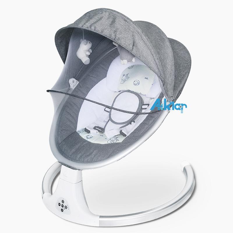 婴儿智能电动摇篮椅 摇摇床椅 宝宝摇篮躺椅哄娃神器哄睡新生儿安抚椅