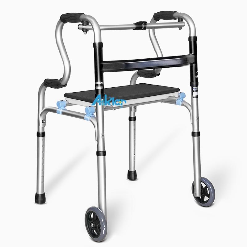 WY1801A多功能助行器四轮助行器老人方便轮座助行器残疾人步行助行器